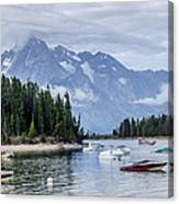 Leeks Marina In The Grand Tetons -  Canvas Print