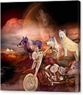 Legend Of Wolf Mountain Canvas Print