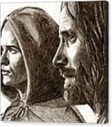 Legolas And Aragorn Canvas Print