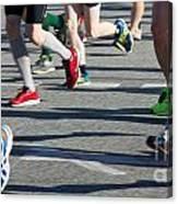 Legs Of Runners At Marathon Canvas Print