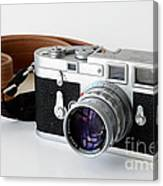 Leica M3 With Leather Strap Canvas Print