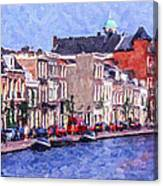 Leiden Canal Canvas Print