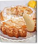 Lemon Bundtcake With Wedge Cut Out Canvas Print