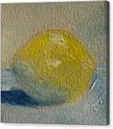 Lemon No 1 Canvas Print