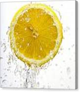 Lemon Splash Canvas Print