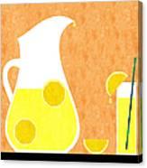 Lemonade And Glass Orange Canvas Print