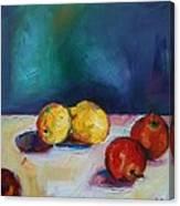 Lemons And Apples Canvas Print
