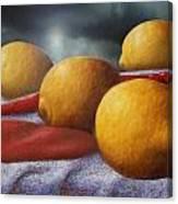 Lemons And Chilis Canvas Print