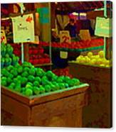 Lemons And Limes Farmers Market Food Stalls Market Vendors Vegetable Food Art Carole Spandau Canvas Print