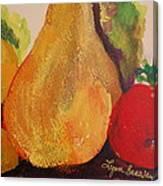 Lemons Pears Apples Canvas Print