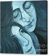 Lennon And Ono Canvas Print