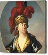 Lenoir, Simon Bernard 1729-1791. Lekain Canvas Print