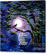 Lenore By A Cypress Tree Canvas Print