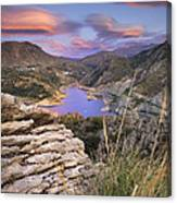 Lenticular Clouds At Canales Lake Canvas Print