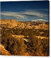 Lenticular Clouds Near Tesuque Pueblo Nm Canvas Print