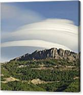 Lenticular Clouds Over Dornajo Mountain Canvas Print