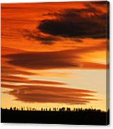 Lenticular Sunset 1 Canvas Print
