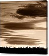 Lenticular Sunset 2 Canvas Print
