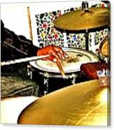 Leo Drumming Canvas Print