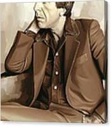Leonard Cohen Artwork 2 Canvas Print