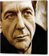 Leonard Cohen Artwork Canvas Print