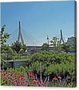 Leonard P Zakim Bridge From Cambridge Canvas Print