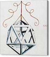 Leonardo Icosahedron Canvas Print