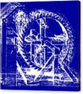 Leonardo Machine Blueprint Canvas Print
