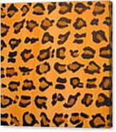 Leopard Print Hand Painted Leopard Print  Canvas Print