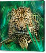 Leopard - Spirit Of Empowerment Canvas Print