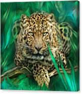 Leopard - Spirit Of Empowerment Canvas Print
