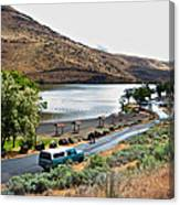 Lepage Rv Park On Columbia River-or Canvas Print