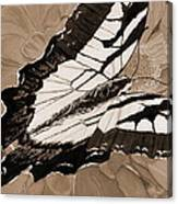 Lepidoptery - Sepia Canvas Print