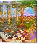 Les Amours Hallucines De La Vigne Et Du Pin Parasol Canvas Print