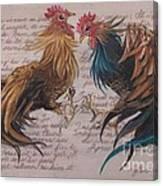 Les Deux Coqs Canvas Print