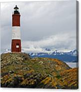Les Eclaireurs Lighthouse Southern Patagonia Canvas Print