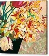 Les Fleur Canvas Print