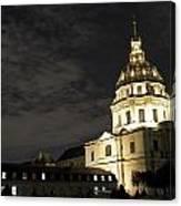 Les Invalides - Eglise Du Dome At Night - 2 Canvas Print