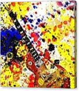 Les Paul Retro Abstract Canvas Print