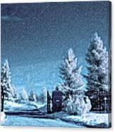 Let It Snow Blue Version Canvas Print