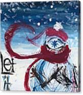Let It Snow Version One Canvas Print