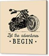 Let The Adventures Begin Inspirational Canvas Print