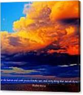 Let The Heavens Canvas Print