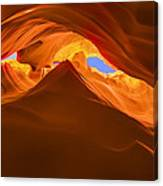 Let The Sunshine In The Canyons Canvas Print
