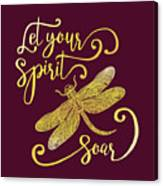 Let Your Spirit Soar. Hand Drawn Canvas Print