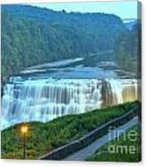 Letchworth Middle Falls Lights Canvas Print