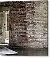 Letchworth Village Brick Wall With Door 3 Canvas Print