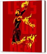 Lets Go Heat Canvas Print