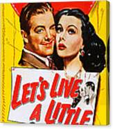 Lets Live A Little, Us Poster Art Canvas Print
