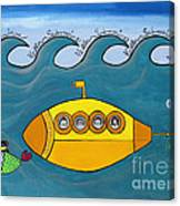Lets Sing The Chorus Now - the Beatles Yellow Submarine Canvas Print